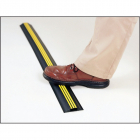 Hazard cable protector 80mmx14mmx9m black/yellow