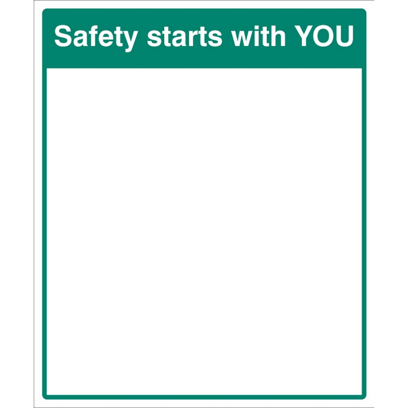 Mirror Message - Safety starts with you 405x485mm