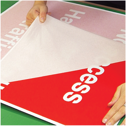 Custom made 300x100mm self-adhesive