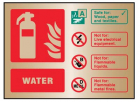 9484 Water extinguisher ID brass 150x200mm ad...