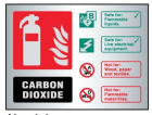 9487 CO2 extinguisher ID aluminium 150x200mm ...