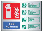 9491 ABC powder extinguisher ID aluminium 150...
