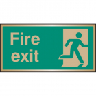 Fire exit brass 200x100mm