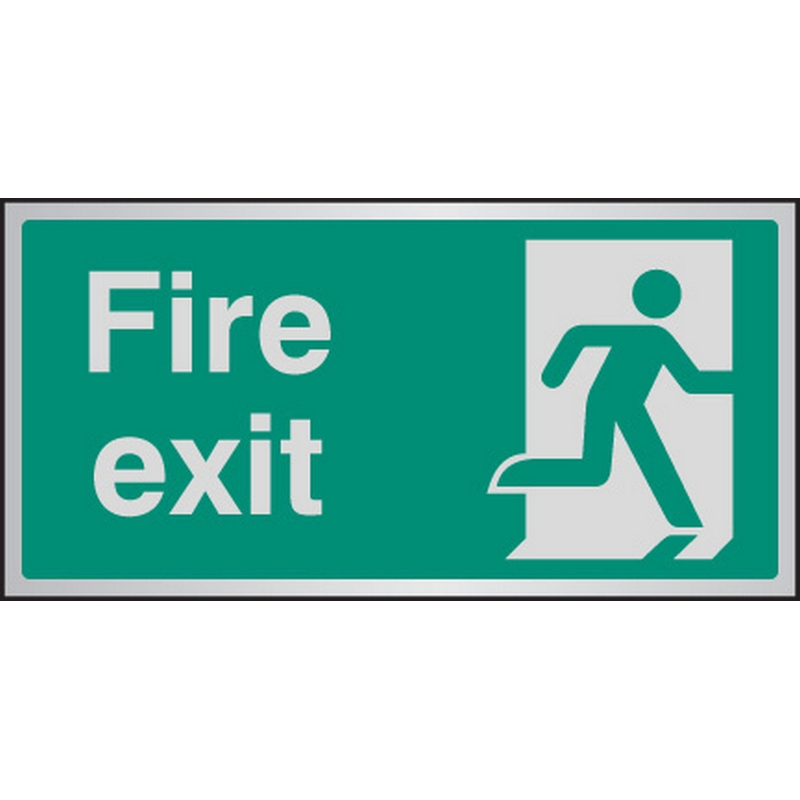 Fire exit aluminium 200x100mm