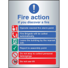 Fire action auto dial with lift - aluminium