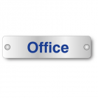 Office visual impact aluminium door sign