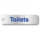 Toilets visual impact aluminium door sign