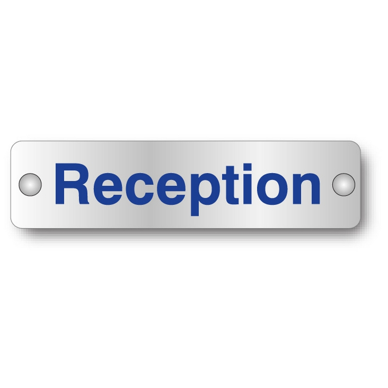 Reception visual impact aluminium door sign