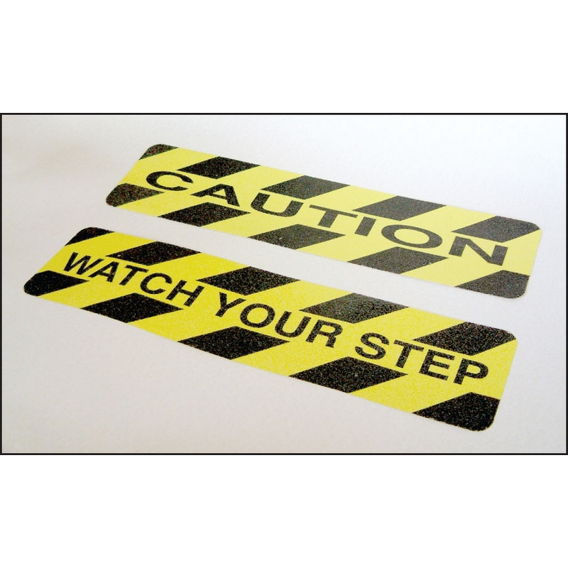 Caution - anti-slip mat 610x150mm