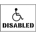Stencil kit 400x300mm - Disabled
