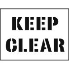 Stencil kit 600x400mm - Keep Clear