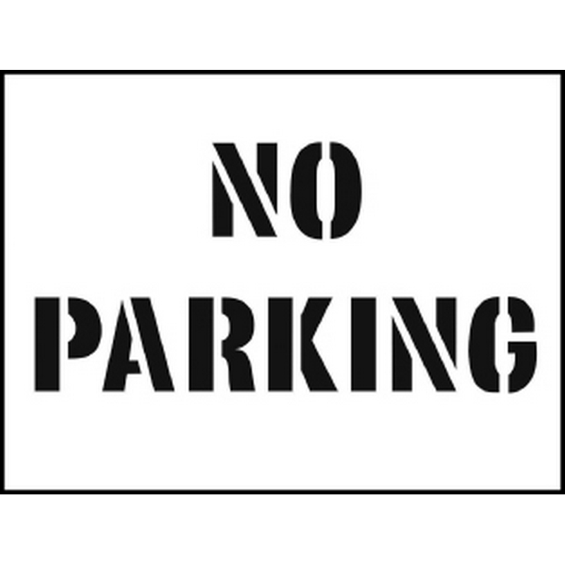 Stencil kit 600x400mm - No Parking