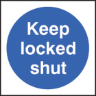 100 S/A labels 100x100mm keep locked shut