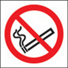 100 S/A labels 50x50mm no smoking