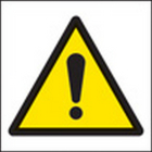 100 S/A labels 50x50mm warning exclamation