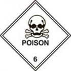 100 S/A labels 100x100mm poison 6