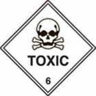 100 S/A labels 100x100mm toxic 6