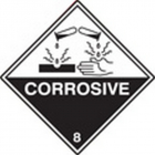100 S/A labels 100x100mm corrosive 8