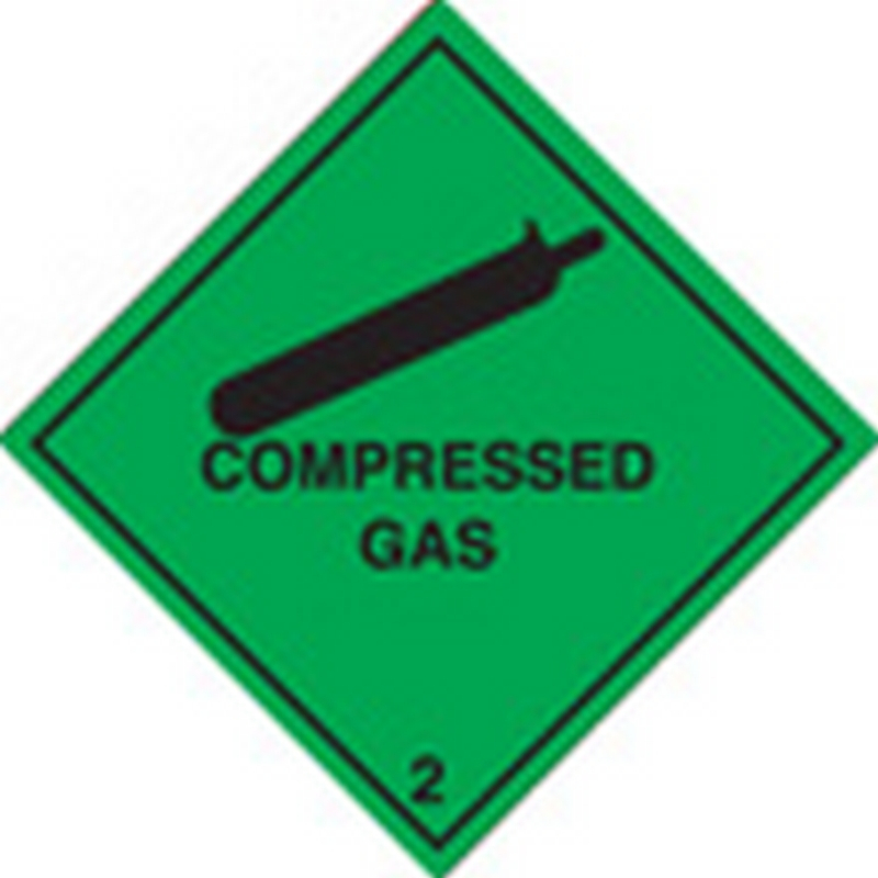 100 S/A labels 100x100mm compressed gas 2