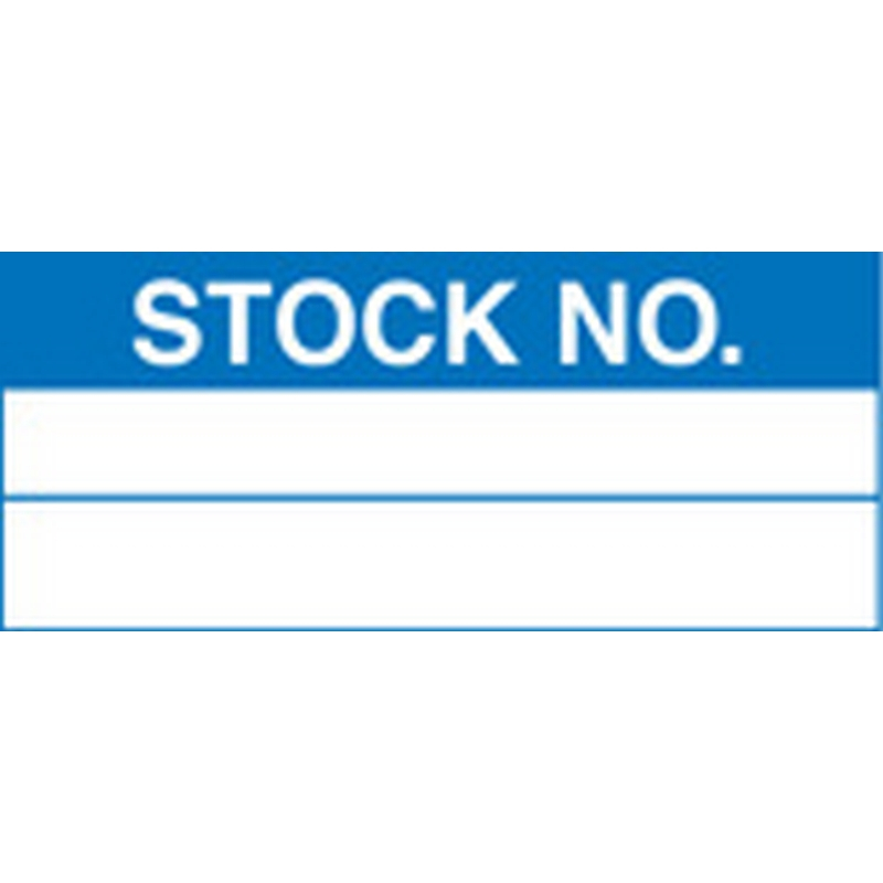 100 S/A labels 50x20 stock number