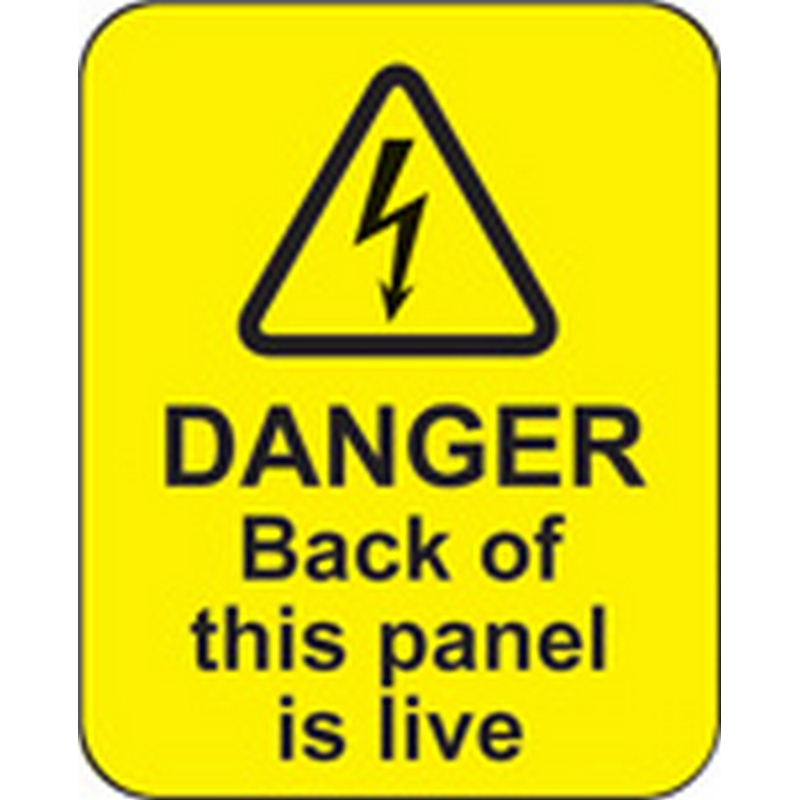 Danger back of this panel is live roll of 100 labels 40x50mm
