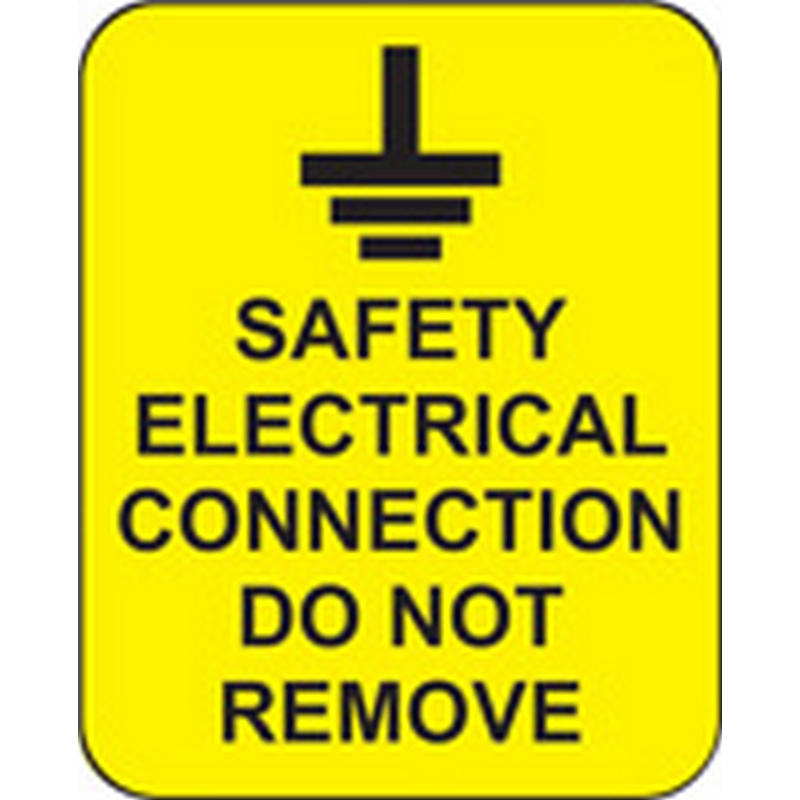 Safety electrical connection do not remove roll of 100 labels 40x50mm