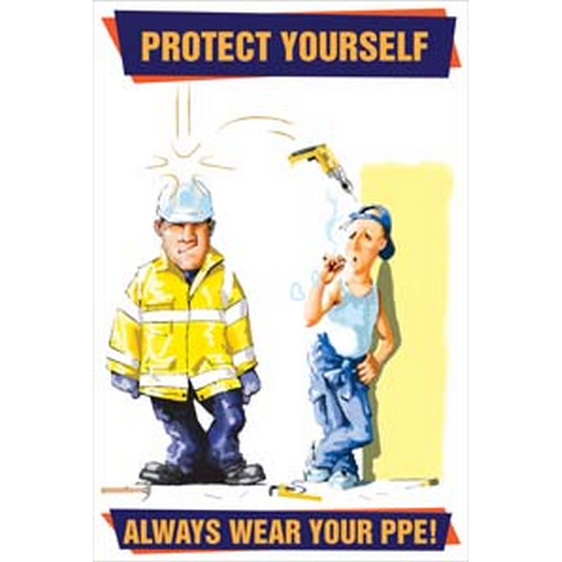 Always wear your PPE poster 510x760mm synthetic paper