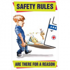 Safety rules are there for a reason poster 510x760mm synthetic paper