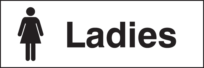 Ladies Quick Fix Sign 300x100mm