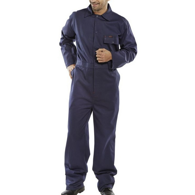 Cotton Drill Navy Coverall