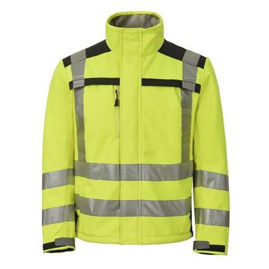 Hi-Viz Aqua Soft Shell Fleece Jacket