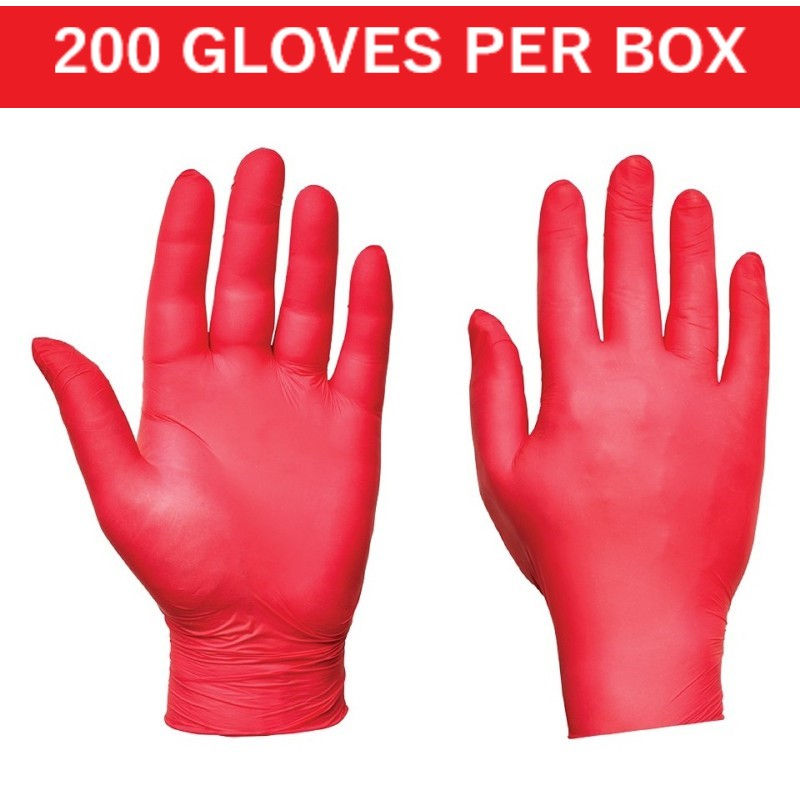 Red Ultra Nitrile Disposable Gloves