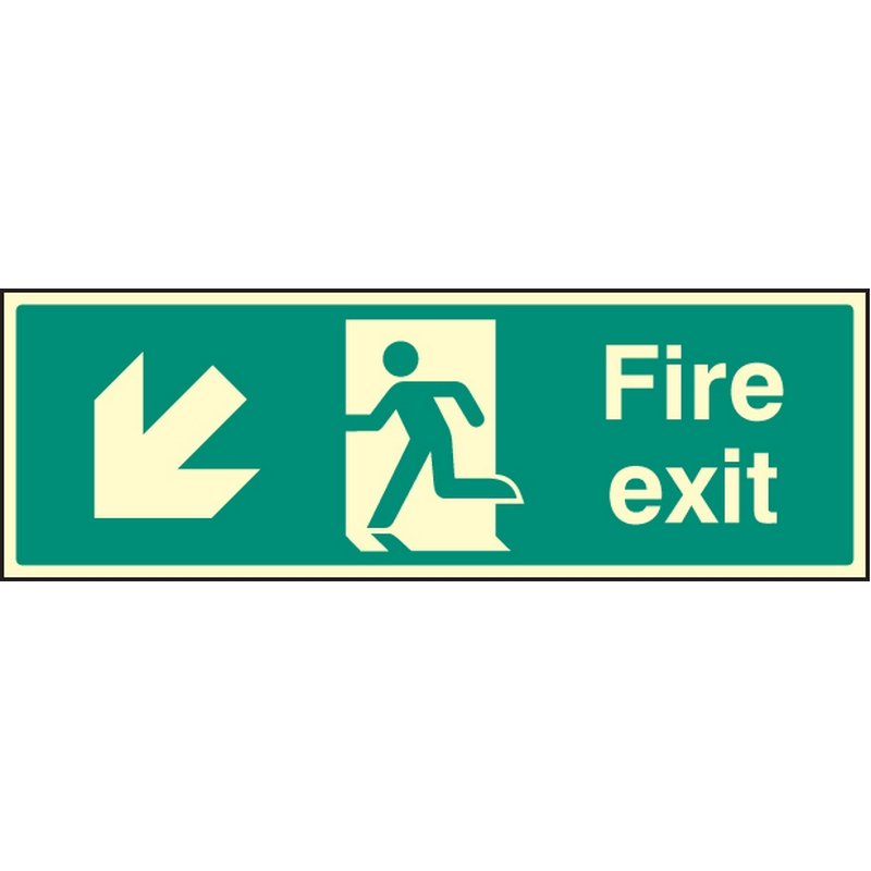 Exit Down and Left Signs