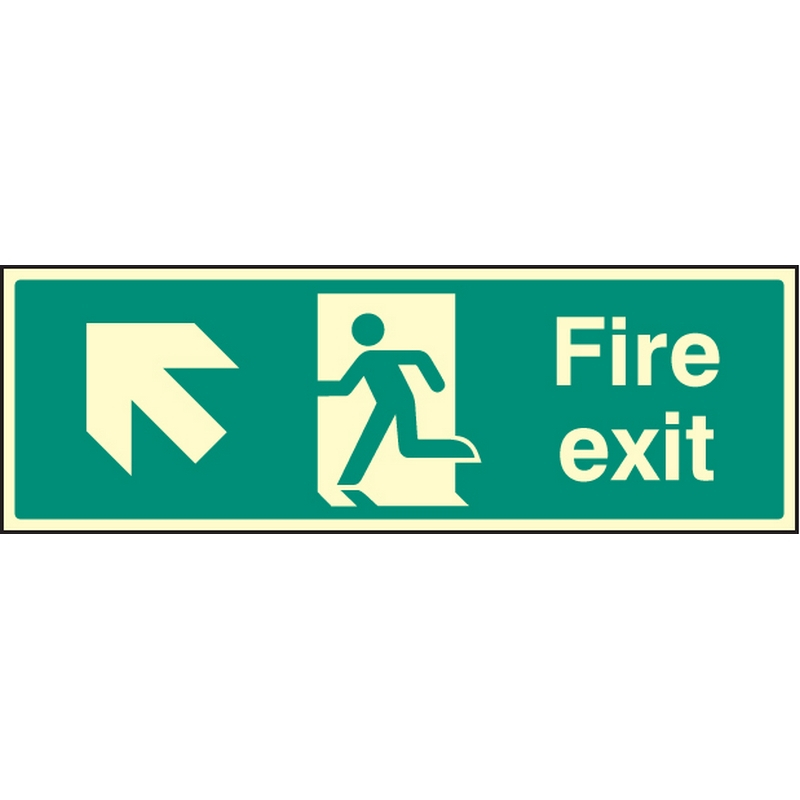 Exit Up and Left Signs