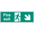 Exit Down and Right Signs