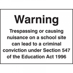 4231 Warning trespassing or causing nuisance on a school site