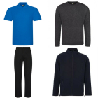 T-Shirts, Polos, Sweatshirts, Jackets & Trousers