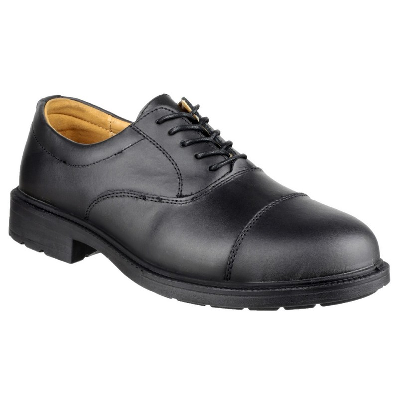 Black Toe Cap Oxford Shoe size 14