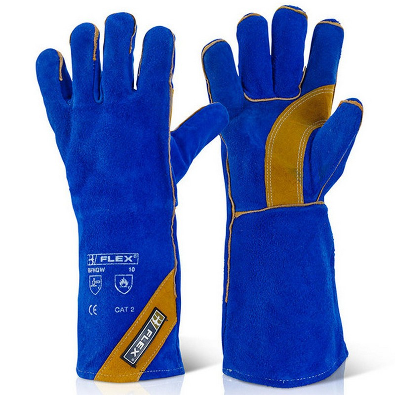 Blue KEVLAR stitched Cat 2 Welders Glove