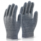 Grey Mixed Fibre Glove (White Band)