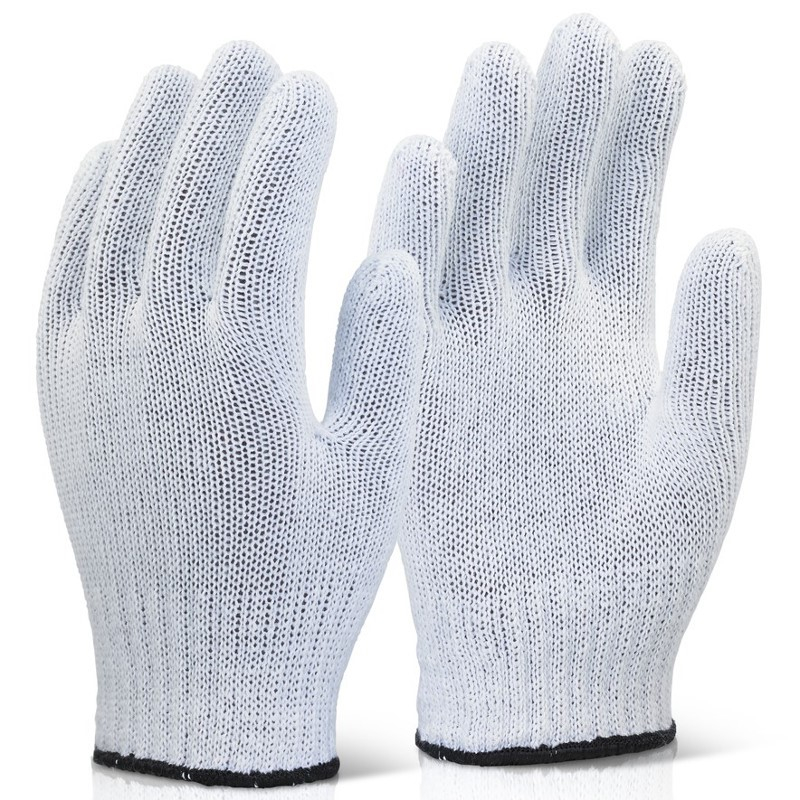 White Mixed Fibre Glove