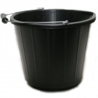 Black Plastic Bucket 13ltr