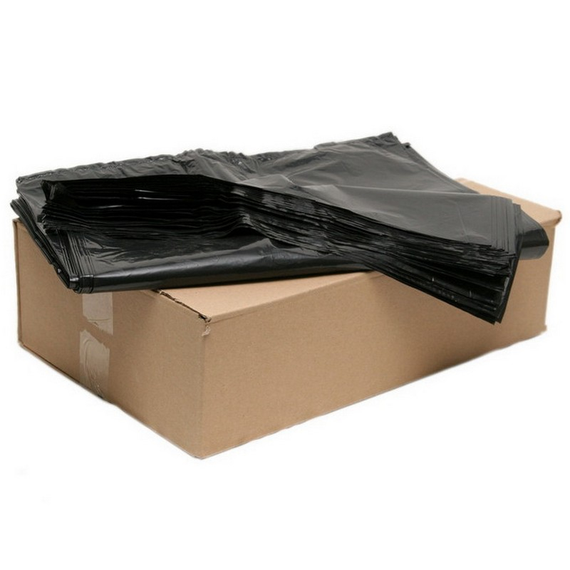 Black Bin Liner Heavy Duty 18x32x39 Box of 200