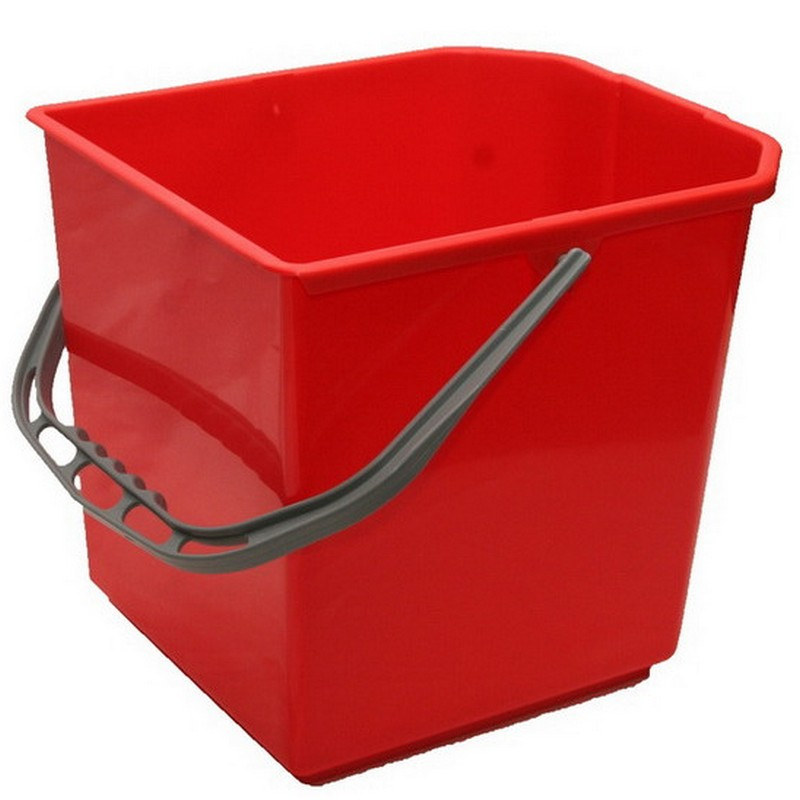 Red Heavy Duty Square Bucket 24ltr