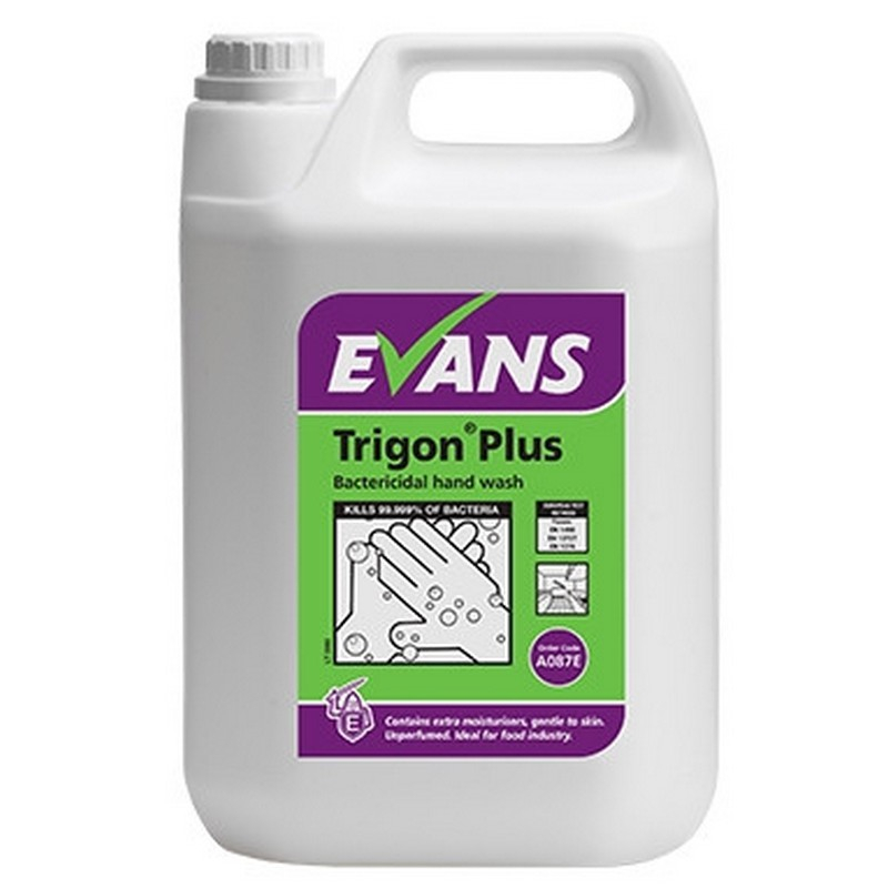 Trigon Plus Bactericidal Un- Perfumed Hand Wash 5lt