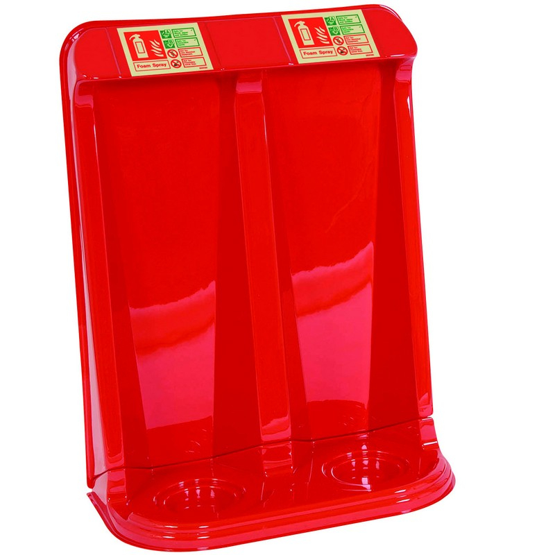 Fire Extinguisher Stand Red - Double