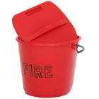 Plastic Fire Bucket Lid Only