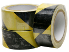 Yellow and Black Hazard Tape