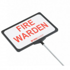 Telescopic Fire Warden Sign