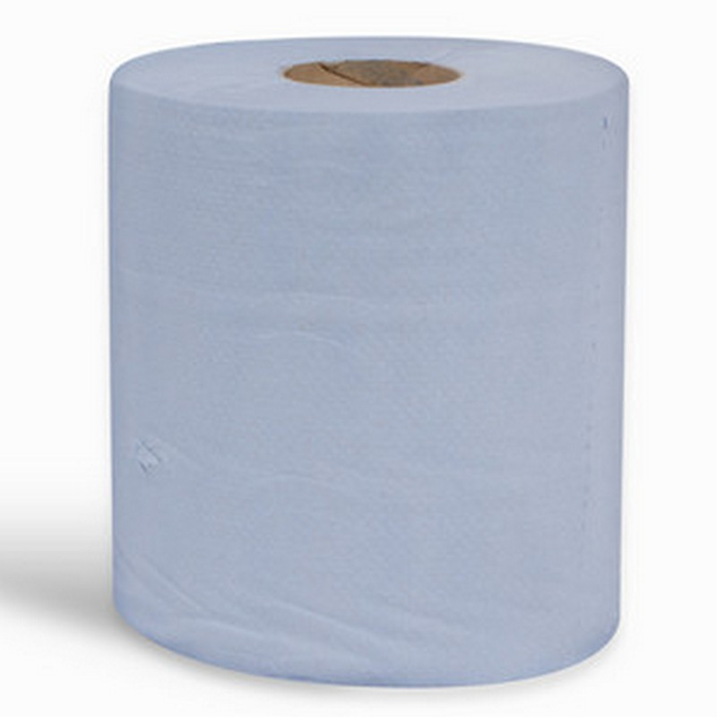 2ply Embossed Blue Centrefeed Roll